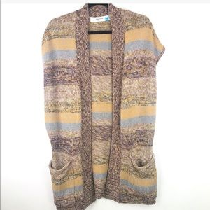 Anthropologie Sparrow Striped Open Front Cardigan